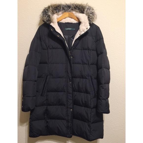 f293b218519 Lauren Ralph Lauren Jackets & Blazers - Reduced! Ralph Lauren Faux Fur Trim  Quilted Puffer